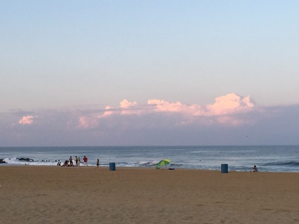 Belmar Beach at sunset