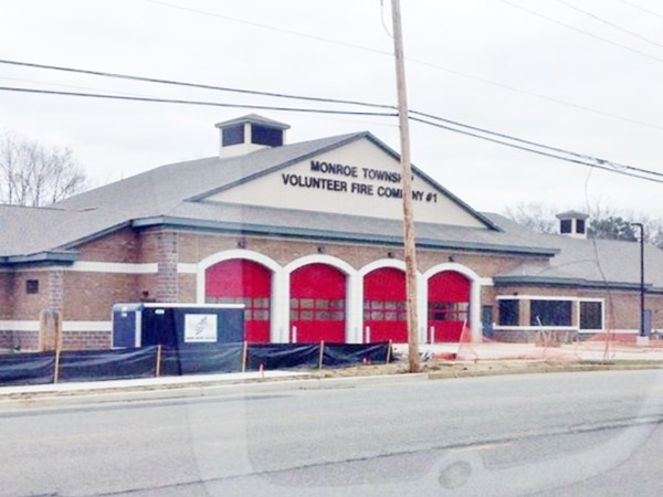 The new, mega Monroe Volunteer Firehouse is almost complete (Fire Company #1)