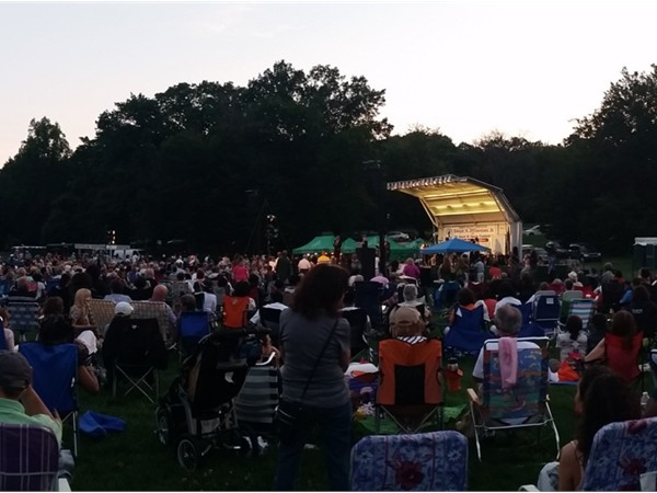 Concert night at Brookdale Park