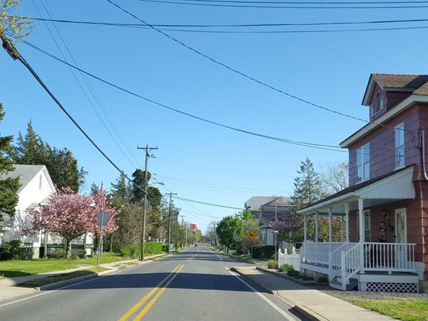 A beautiful day for a drive in downtown Tuckerton Boro