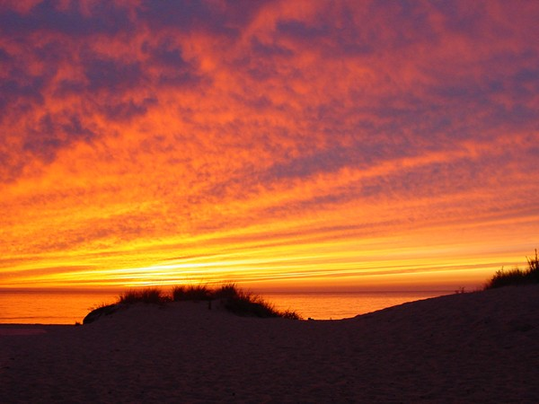 """One of the many breathtaking sunsets on """"The Lower Gold Coast """" of North Cape May"""