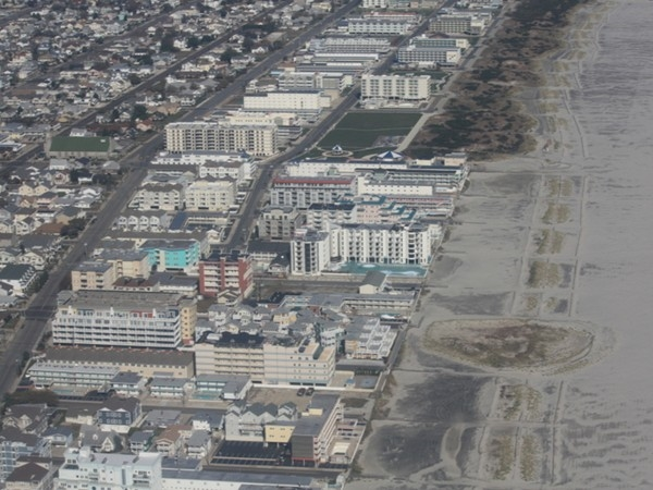 Wildwood Crest Five Mile Beach Development seen from far above