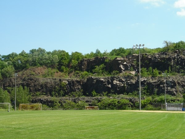 Regulation sized field with a view of Snake Hill
