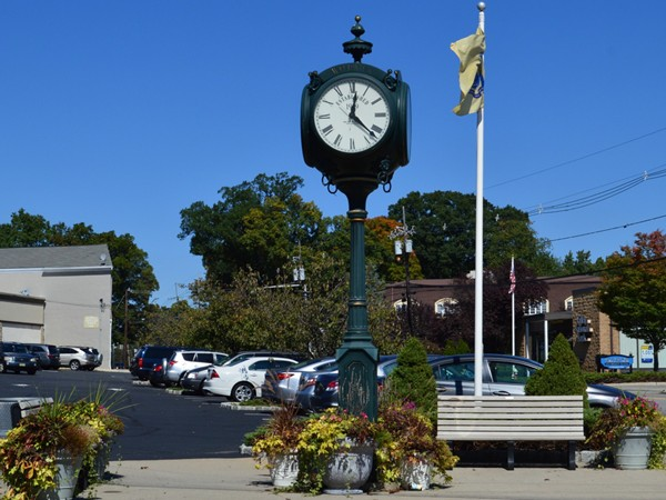Borough clock was donated in 2003. Corner of Prospect Street and Franklin Turnpike