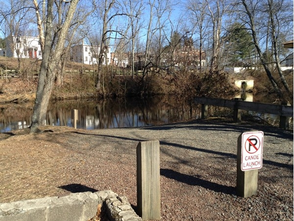 One of two canoe boat launch areas at the County Park onto the Rancocas Creek