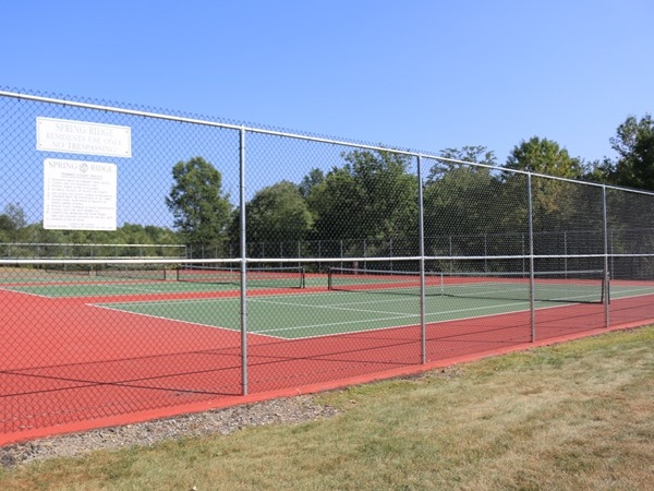 Another view of the tennis court areas in Spring Ridge