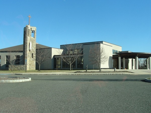 St Mary's RC Church located on the majestic property at the corner of  Route 34 and Phalanx