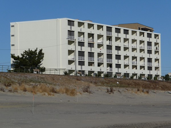 Ocean View Towers in Long Branch sits on high ground right on the beachfront.
