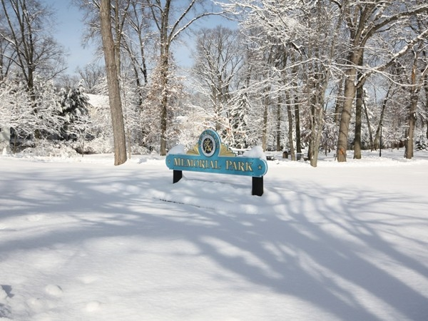 Welcome to Memorial Park - after a February snowstorm
