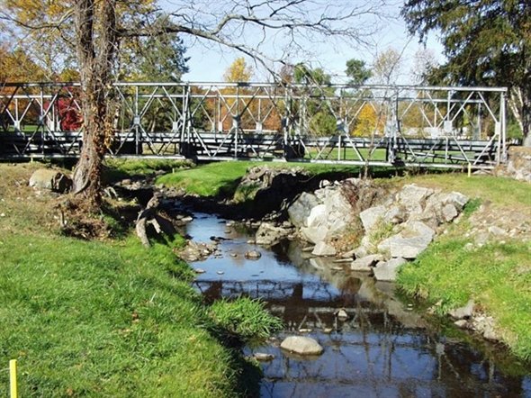 A golf course bridge at River Vale Country Club