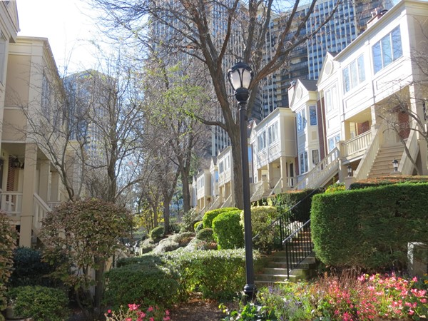 Enjoy serenity in the city with beautifully landscaped courtyards
