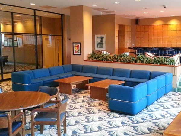 The Admiralty social room is available for private parties and overlooks the ocean.