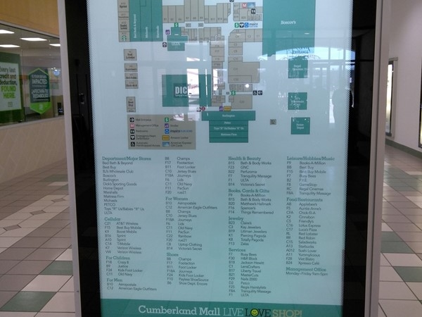 Shop until you drop and then enjoy a meal at one the many restaurants in Cumberland Mall