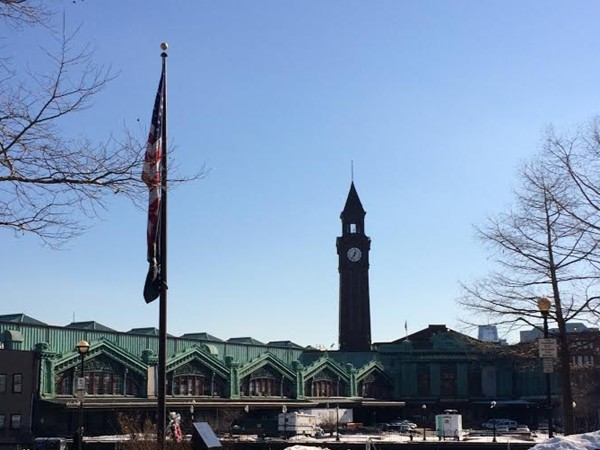 The historic Hoboken Terminal; one of the NY metropolitan's major transportation center