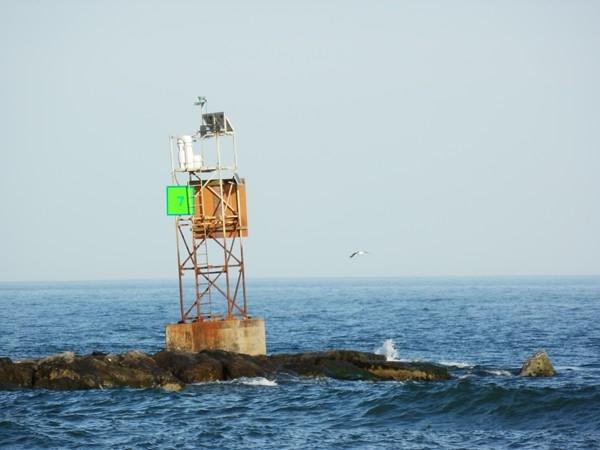 A buoy in Barnegat Bay