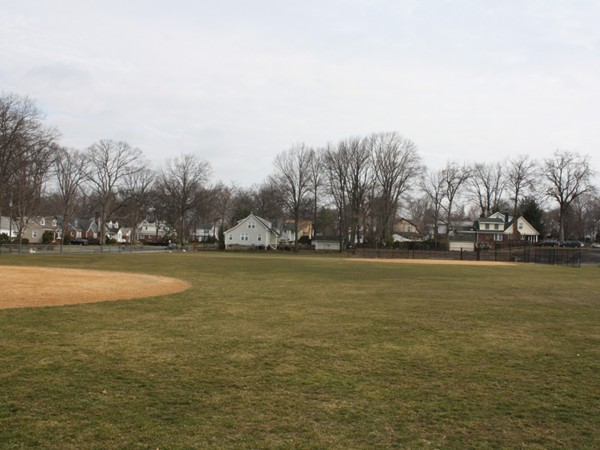 Ball fields and playground at Roosevelt Elementary School for grades K-6