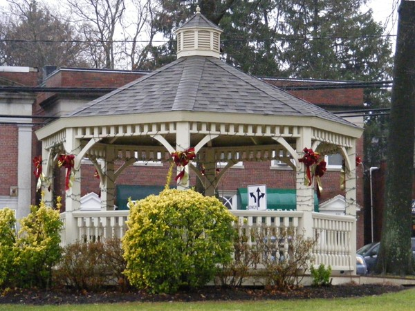 Schirra Park Gazebo with holiday trimmings