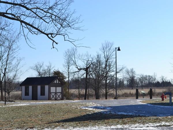 Scenic winter shot of Duke Farms