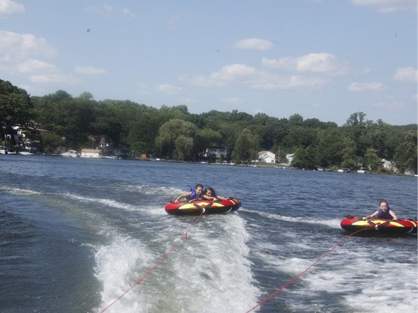 Tubing at the lake