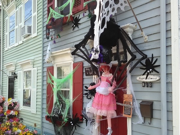 "Thompson Street in Bordentown. This years Halloween theme was ""Spiders"""