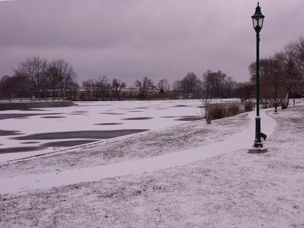 Franklin Lake in snow, 12/17/13