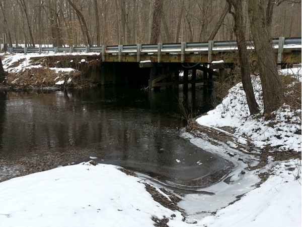 Rancocas Creek with a late snow coating as spring was beginning in 2014