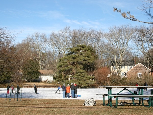Ice skating on McCarter's Pond