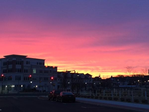 Sunrise from Asbury looking towards Ocean Grove, January 2018