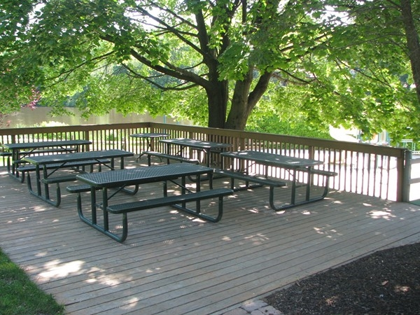 Picnic area at Ramsey Golf and Country Club's pool