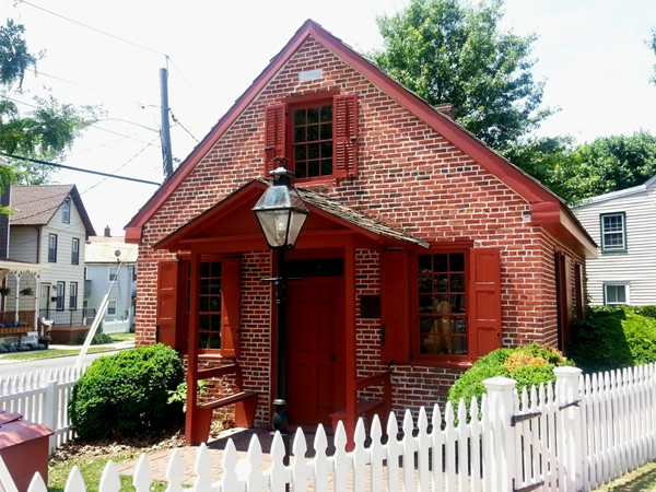 A one-room school house founded by Clara Barton in 1852 in Bordentown