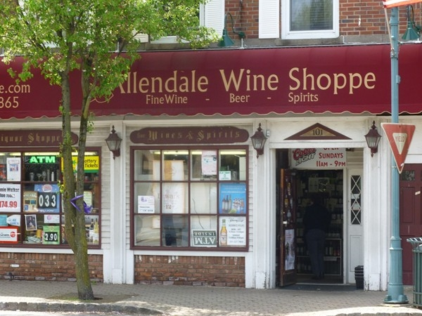 Allendale Wine Shoppe - just around the corner from the train station