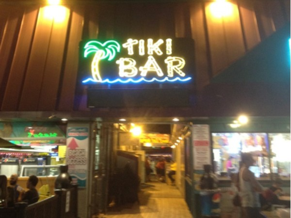 For a great time beachfront head to the Tiki Bar!