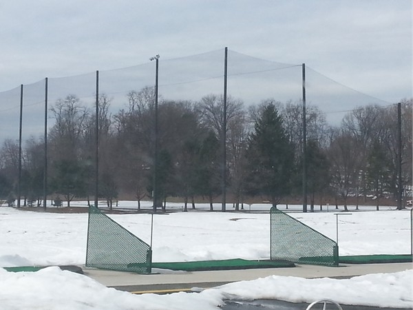 Putting green, and course full of Snow!