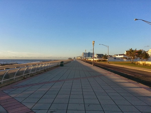 Long Branch Promenade looking south toward Pier Village, which is a half mile away.