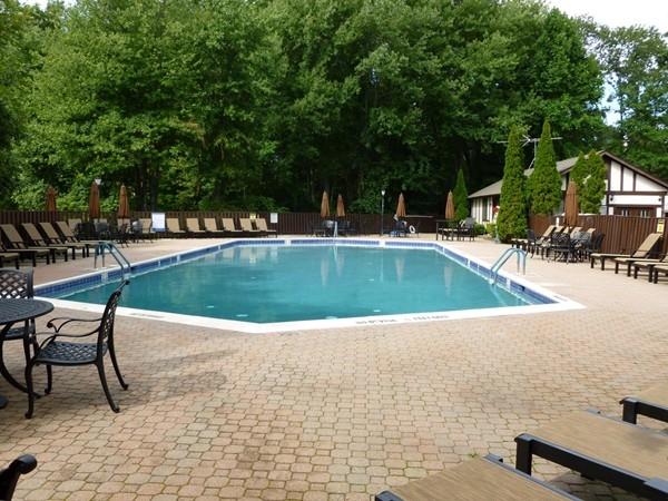 Enjoy sitting at the pool at Ridge Gardens in Mahwah