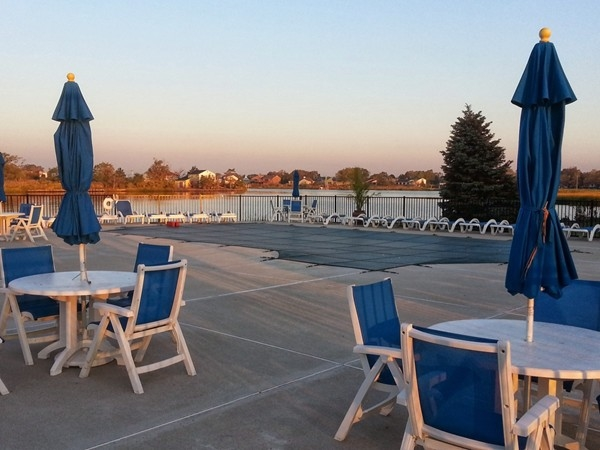 Although closed for the season, in summer months Sands Point residents enjoy the river side pool