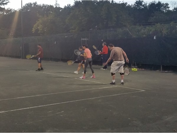 Action shots from our Wayne Tennis Meet-Up Group