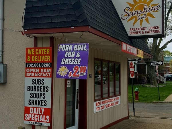 Sunshine Deli on Amboy Avenue is small but has big taste. Get the Stuffed Cheesburger