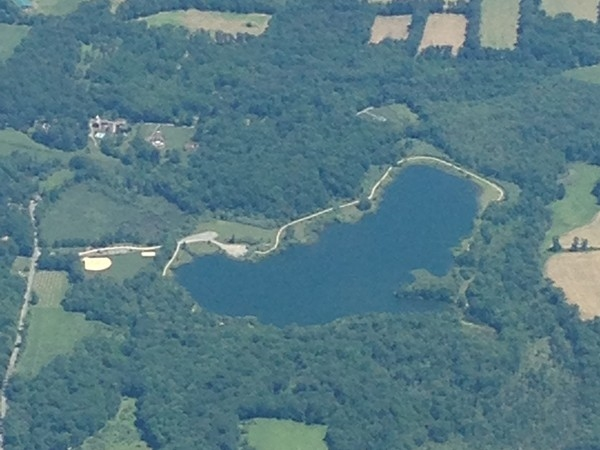 The Swayze Mill Recreation Area as seen from 16,000 feet