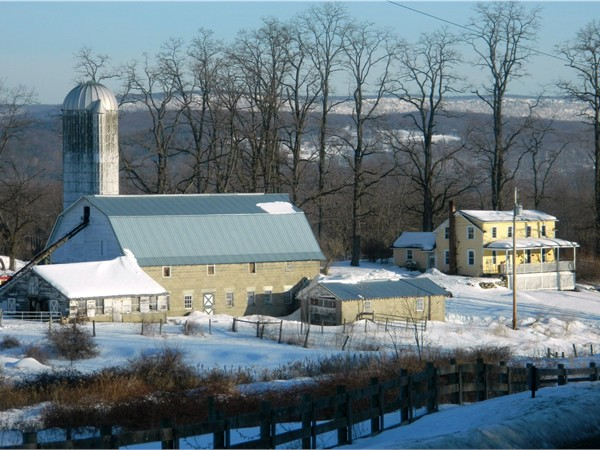 This local dairy farm in Blairstown Township looks like the subject of  Currier & Ives print