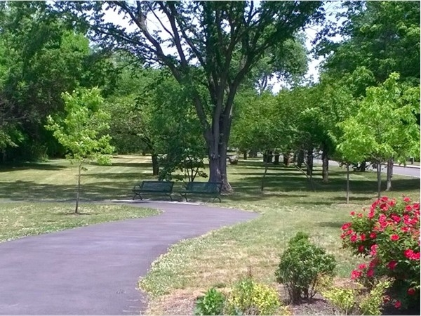 Beautiful greenspace along Passaic Avenue