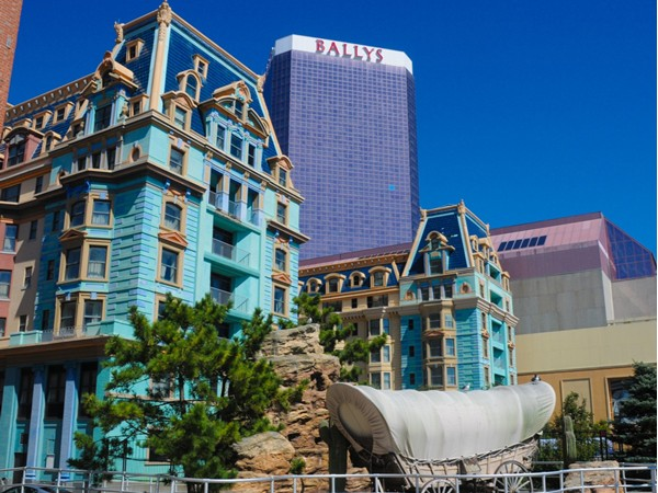 A view of Bally's from the boardwalk