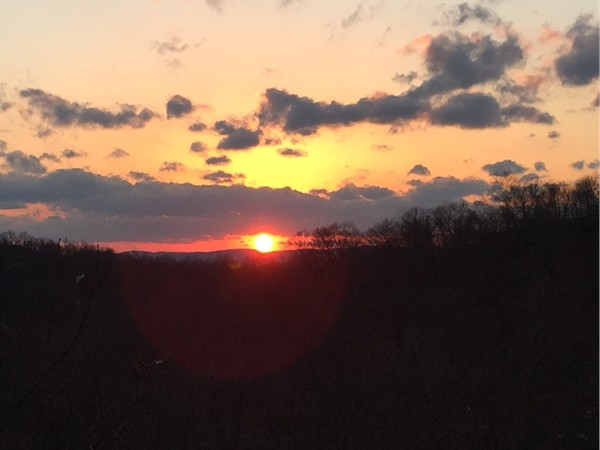 Sunset on the hiking trails in Oakland and Ringwood State Parks