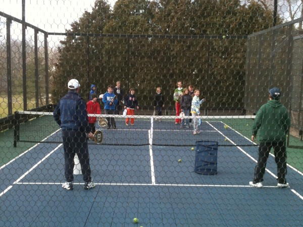 Paddle Tennis clinic for kids at the Ramsey Golf & Country Club