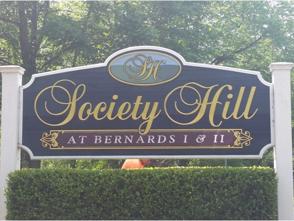 The entrance to the Society Hill development in Basking Ridge
