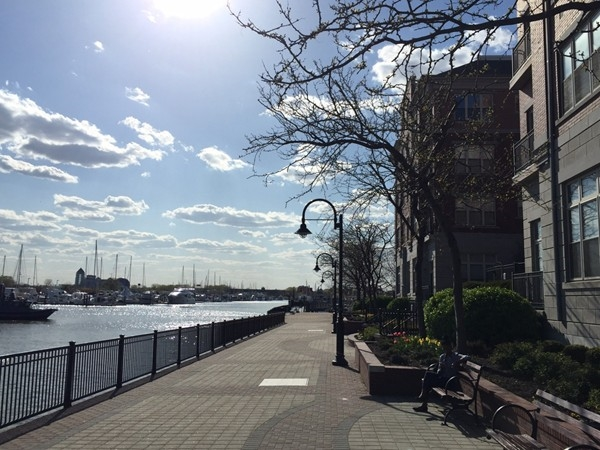 Morris Canal Basin and Hudson River Waterfront Walkway