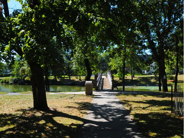 Trees line Divine Park