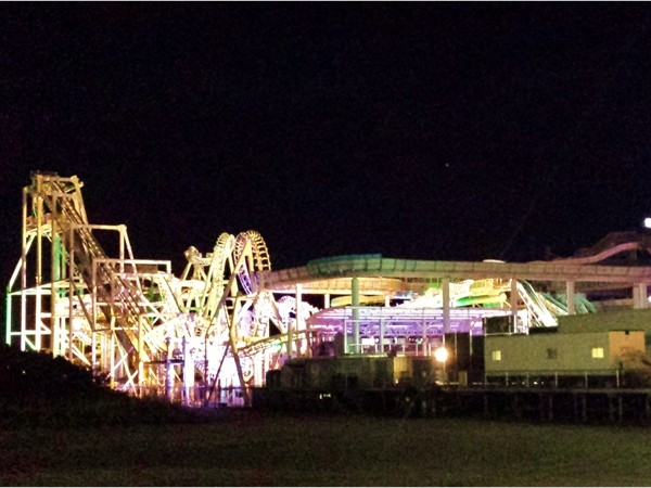 Wildwood Boardwalk all lit up at night
