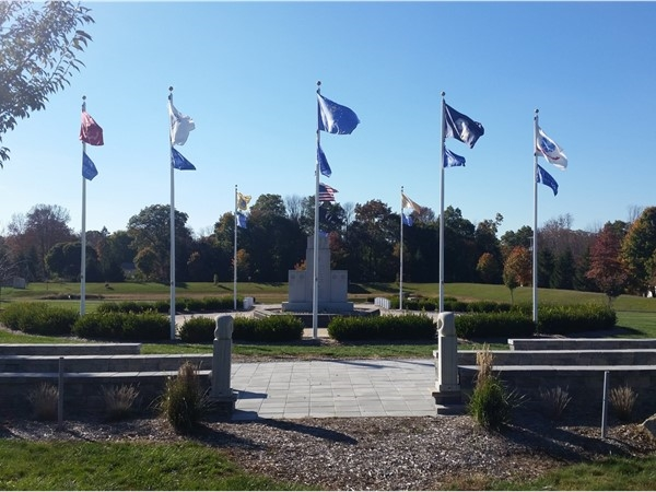 The War Memorial at Turkey Brook Park; commemorating every war the U.S. ever fought