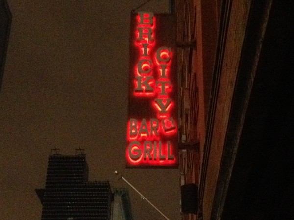 "Brick City Bar across from ""The Rock""  Perfect for pregame drinks and food !"